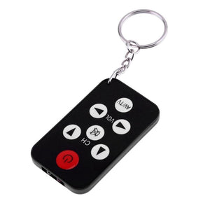 Alloyseed Portable 7 Keys Mini Universal TV Remote Control Keychain Key Ring Television Set Controller