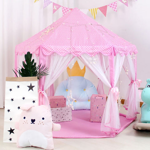 Baby toy Tent Portable Folding Prince Princess Tent Children Castle Play House Kid Gift Outdoor Beach Tent Toy For Kids gifts