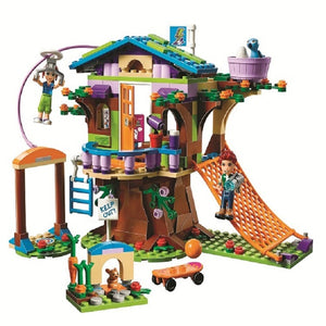 Bela 10854 Girl Friends Series Mia's Tree House Model Building Block Brick Toys Gifts Compatible With Legoings Friends 41335