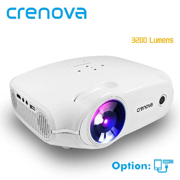CRENOVA 2018 New LED Projector For Full HD 4K*2K Video Projector With VGA HDMI USB AV SD Home Theater Movie Beamer Proyector