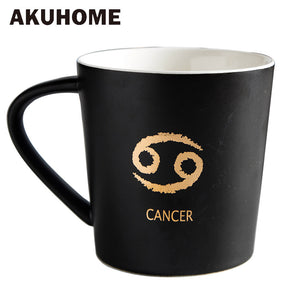 Ceramic Coffee Mug Milk Cup Drinkware Twelve Constellations Teacup Simple and Creative Mugs Akuhome