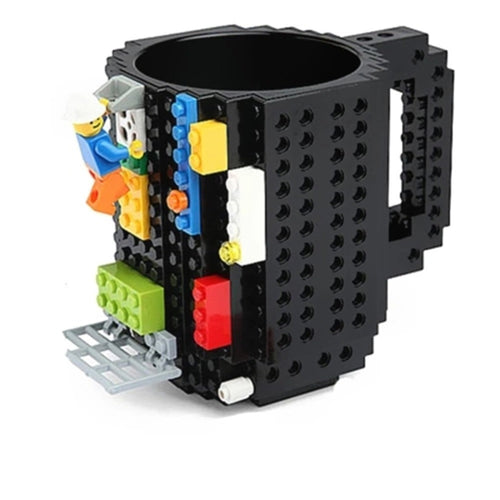 Creative 350ml Drinkware Mugs Building Blocks DIY Coffee Cup Puzzle Mug of Personality Cup Water Cup Build-In Brick Gift of Milk