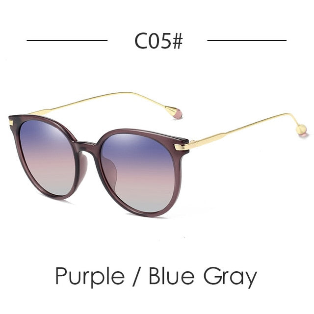 c74201228854e ... Designer Cat Eye Sunglasses Women Polarized Vintage Luxury Round  Polaroid Women Sunglasses Diamond Fashion Sun Glasses