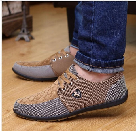 Mens Casual Shoes  Leather brand fashion suede