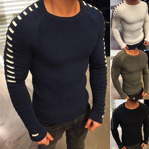 Europe and the United States the new 2017 winter knitting fashion sweater men round neck long sleeve sweater hot style