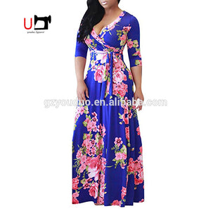 Factory Direct Sales Plus Size Long Sleeve Maxi Floral Dresses Women Lady - Buy Dresses Women Lady,Floral Dress,Long Sleeve Maxi Dress Product on Alibaba.com