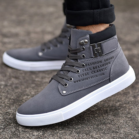 Fashion Men running shoes 2018 New Autumn Winter Men Warm Shoes Breathable Suede sneakers High Top Warm Shoes