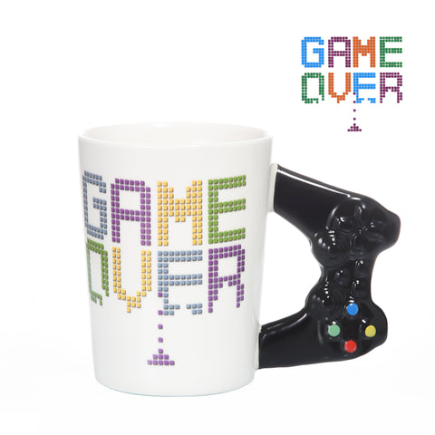 Game Over Coffee Mug 3D Game Controller Handle Mug Ceramic Cup Milk Tea Mugs Gameboy Birthday Gift
