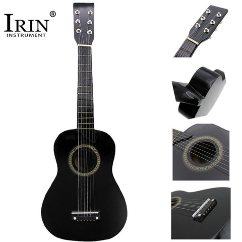IRIN Mini 23 Inch Basswood 12 Frets 6 Strings Guitar Hawaii Ukulele Acoustic Guitar For Kids Beginners With Pick Strings Gifts