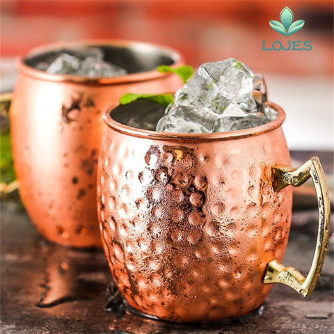 Hammered Copper Plated Moscow Mule Mug Beer Cup Coffee Cup Mug Copper Plated Mugs Kitchen Bar Drinkware 550ml