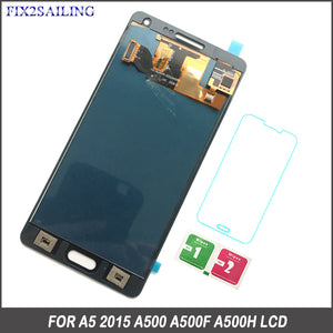 High Quality Phones LCD For Samsung Galaxy A5 2015 A500 A500F A500M A500Y A500FQ LCD Display Touch Screen Digitizer Assembly