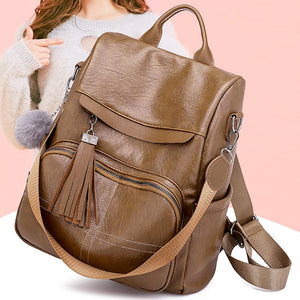 ISHOWTIENDA  Bags For Women 2019 Vintage Kawaii Soft Leather School Bags Fashion Backpack Women mochila feminina