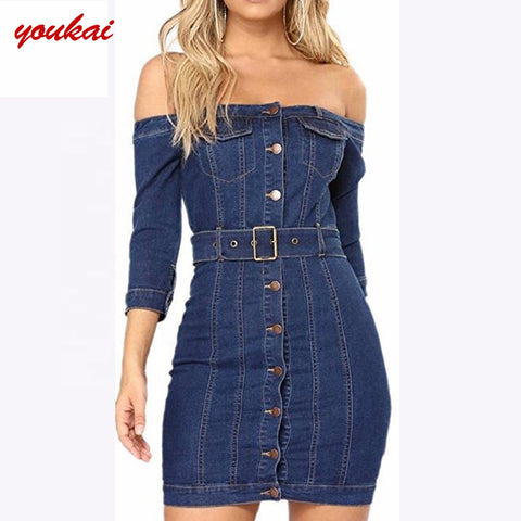 Jeans Dresses Women Cotton Off-shoulder Dress - Buy Off-shoulder Dress,Jeans Dresses Women,Women Cotton Dress Product on Alibaba.com