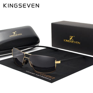 KINGSEVEN Brand Design Polarized Sunglasses Men Driving Square Frame Sun Glasses Male Classic Unisex Goggles Eyewear Gafas