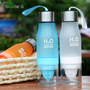 Lemon Bottle Citrus Juice Water Bottles H2O Fruit Juice Infuser Bottle for Lemon Water/Iced Tea/Lemonade Portable Outdoor Sport