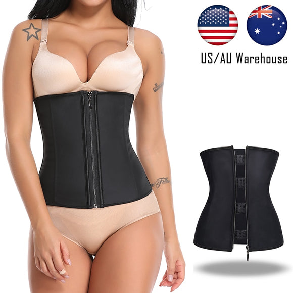 Miss Moly Waist Trainer Latex Body Shaper Underbust Slimming Cincher Shapewear Modeling Belt Underwear Woman Corset Shapers