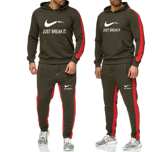New 2019 Brand Tracksuit men thermal underwear Men Sportswear Sets Fleece Thick hoodie+Pants Sporting Suit Malechandal hombre