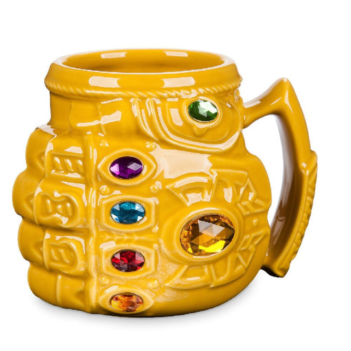 New Anime Thanos gloves fist marvel coffee mugs large capacity water tea milk cups cartoon mark colorful drinkware