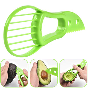 New Portble 3-in-1 Safety Avocado Slicer Corer Plastic Fruit Pitter Cooking Tools Durable Blade Kitchen Accessories