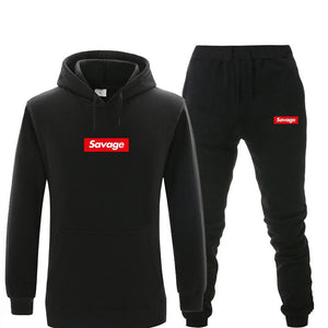 New Tracksuit men Suprem thermal underwear Men women Sportswear Sets Fleece Thick hoodie+Pants Sporting Suit Malechandal hombre