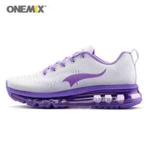 Onemix women running shoes women sports shoes sneakers damping cushion breathable knit mesh vamp for outdoor walking shoes