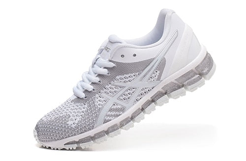 classic fit 6c032 16fd6 Original ASICS GEL-QUANTUM 360 KNIT Women Stability Running Shoes White  Sports Shoes Sneakers Outdoor Lace-Up Breathable T728N