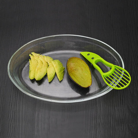 Plastic Knife Kitchen Gadgets 3-in-1 Avocado Slicer  Fruit Corer Pulp Separator  Fruit Cutter 1 Pc Vegetable Tools