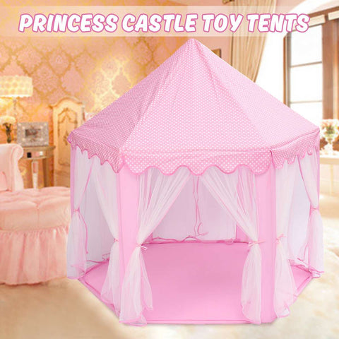 Portable Princess Castle Play Tent Activity Fairy House Fun Playhouse Beach Tent Baby playing Toy Gift For Children