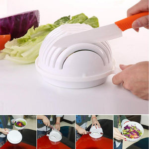 Salad Cutter Bowl Wave Shape Easy Salad Maker Fruit Vegetable Chopper Cutter Quick Salad Maker Kitchen tool