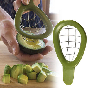 Stainless Steel Avocado Slicer Shea Corer Butter Peeler Fruit Cutter Pulp Fruit Gadgets Kitchen Tool Avocado Slicer Fruit C