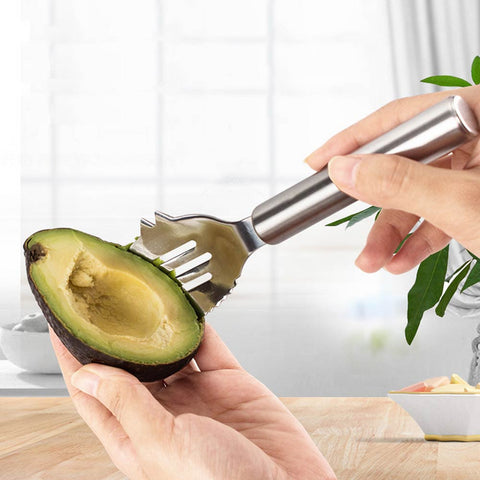 Stainless steel 3 in 1 Avocado Slicer Fruit Shea Corer Butter Peeler Fruit Cutter Pulp Separator Plastic Knife Kitchen tools