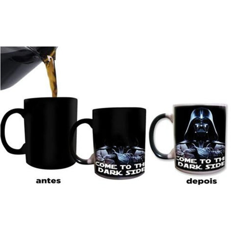 Star Wars Cups Darth Vader Mugs Morphing Coffee Mug Disappearing Mugs Printed Transforming Novelty Heat Changing Color Tea Cups