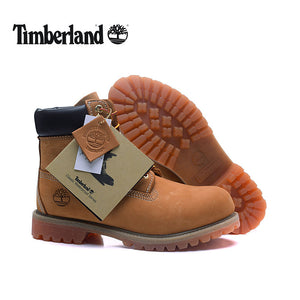 TIMBERLAND Original Brand New Classic Men Ankle Boots For Male Genuine Cow Leather Anti-Slip Premium 10061 High-Top Shoes