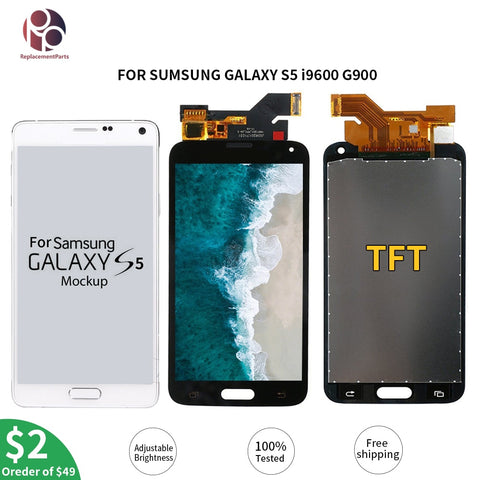 Tested G900F LCD Display Touch Screen Digitizer Assembly For Samsung Galaxy S5 i9600 G900M G900A G900T G900FD