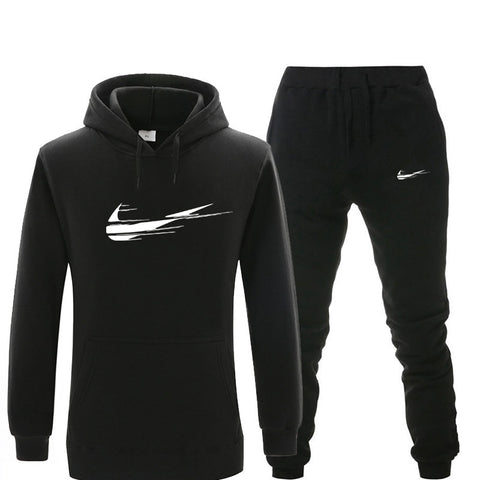 Tracksuit men thermal underwear Sportswear Sets Fleece Thick Sporting Suit Malechandal hombre trainingspak mannen hoodies Suit