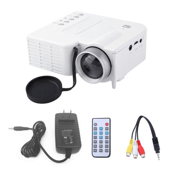 UC28A Mini Portable LED Projector 1080P Multimedia Home Cinema Theater USB TF HDMI AV LED Beamer Projector for Home Use