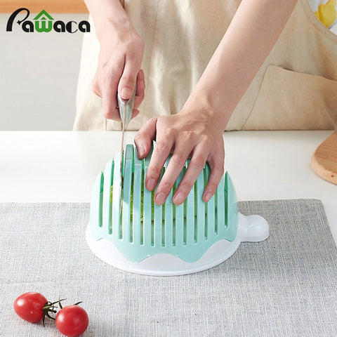 Upgraded Salad Maker 60 Seconds Salad Cutter Bowl Easy Fruit Vegetable Cutter Bowl Fast Fresh Salad Slicer Salad Chopper Washer