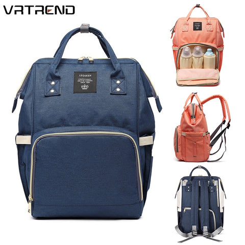 VRTREND Designer Fashion Mummy Maternity Nappy Bag Large Capacity Baby Diaper Bag Travel Backpack Nursing Bag For Baby Care