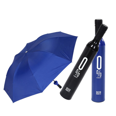 Wine Bottle Shaped Logo Creative Umbrella Custom Novelty Items Short Portable Umbrella Color Bottle Ombrello Pieghevole Umrella
