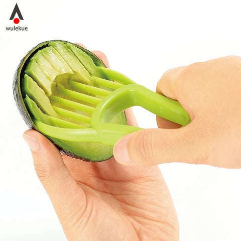 Wulekue Plastic 3-in-1 Avocado Slicer Cutter Creative Vegetable Fruit Grater Knife Multifunction Kitchen Gadget Accessories