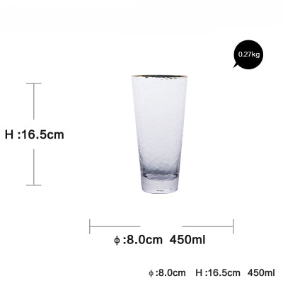 Yilala Glass Cup Frost Bottle For Water Cocktail Glass  Glasses Cup Crystal Mug Wine Drinkware