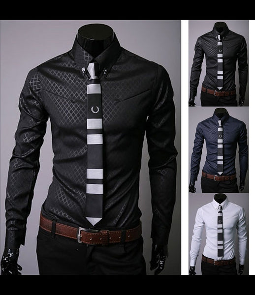 2018 brand new men shirt camisa social masculina casual slim fit