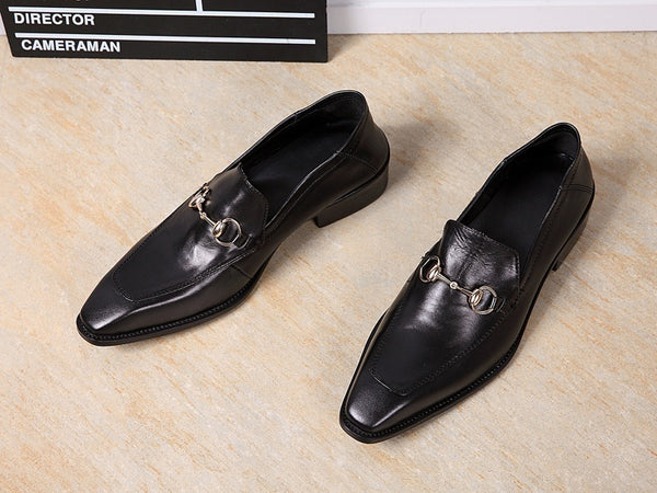 Genuine Leather Slip On Mens Shoes Fashion Flat Loafers