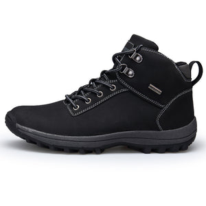 VANCAT Brand Men Boots Big Size 39-46 Autumn Winter Mens Leather Fashion Sneakers Lace Up Outdoor Mountain Men Shoes Waterproof