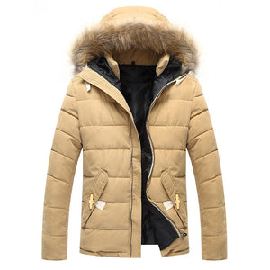 HEE GRAND 2017 New Arrival Men's Coat Thick Warm Winter Outwear High Quality Outdoors Parkas 3 Colors MWM555