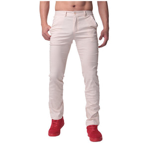 High Quality Autumn Mens Casual Business Work Pants Soft Cotton Slim chinos Trousers Regular Straight Suits Pants Big Size 44