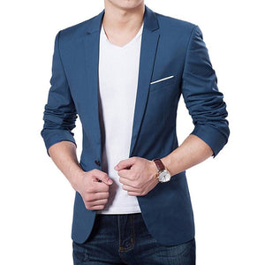 Men's Fall Clothing Jacket Blazer