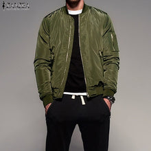 Load image into Gallery viewer, 2018 ZANZEA Mens Autumn Long Sleeve Outwear Coat Jackets Winter Fashion Casual Loose Zip up Baseball Bomber Biker Jacket - MASTYLES ONLINE EXPRESS