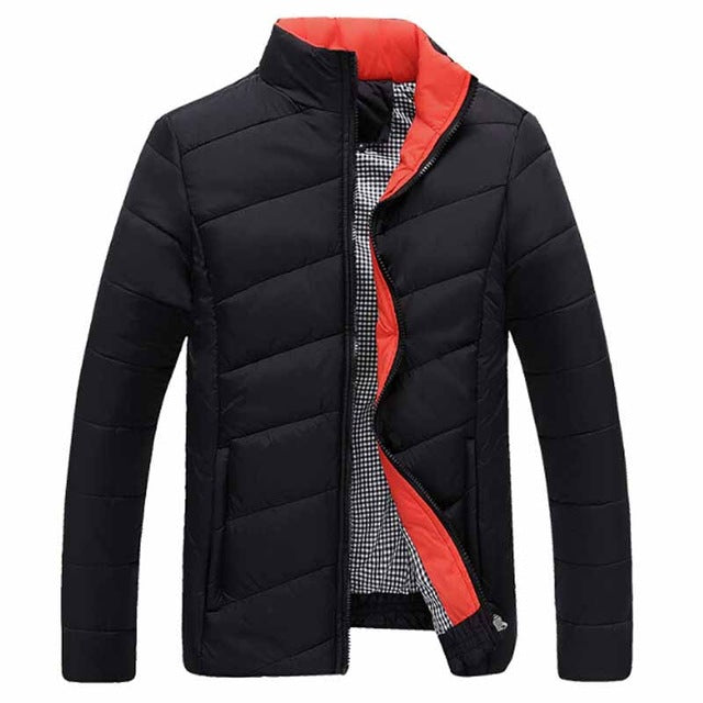 HEE GRAND 2018 Men Striped Padded Leisure Winter Jackets Fashion Patchwork Color Warm Parka Overcoats Hombre Chaqueta MWM902