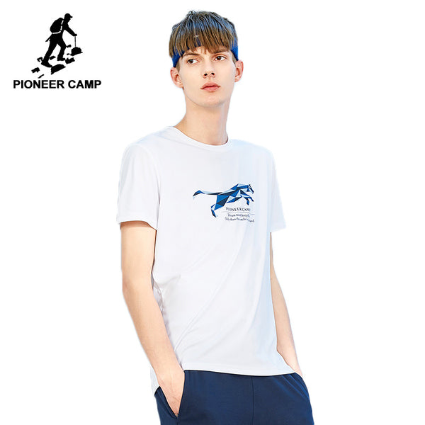 Pioneer camp new summer style short sleeve t shirt mens brand clothing pinted tshirts male cotton 100% quality t-shirt ADT801252